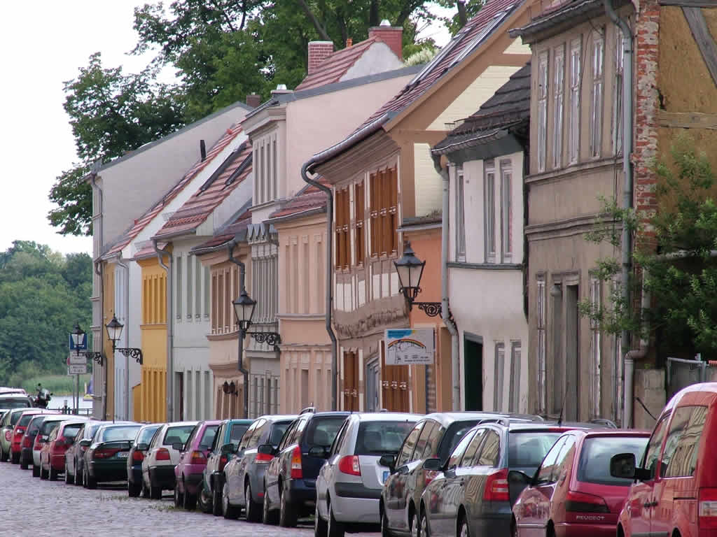 Photo: Street in Neuruppin Brandenburg