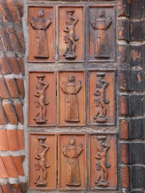 Photo: Tiled Panel on Church in Neuruppin Brandenburg