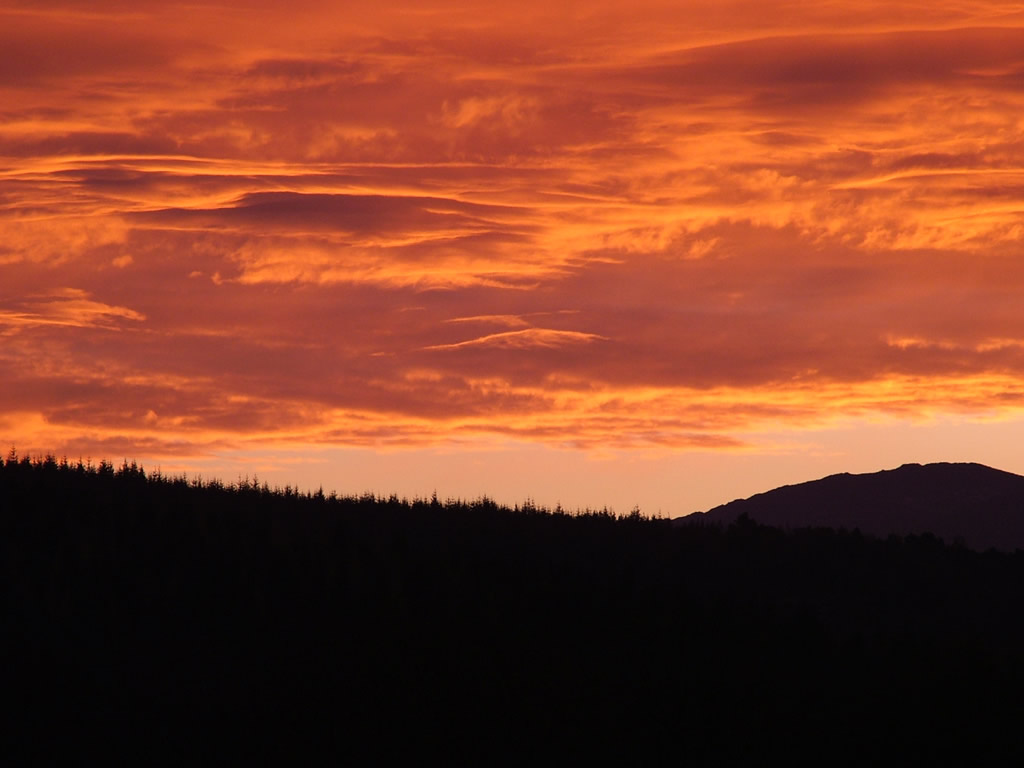 Photo: Sunset over the Cairngorms