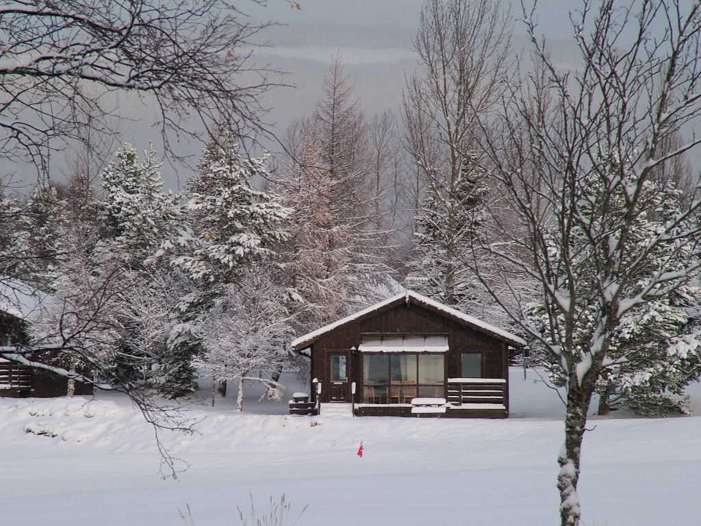 Photo: Chalet in the snow, Aviemore