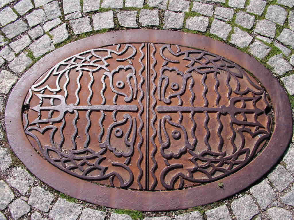 Photo: Drain cover, Weimar